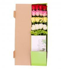 Hộp hoa hồng 4 màu
