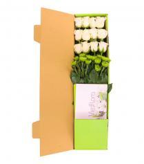 Hộp hoa hồng trắng